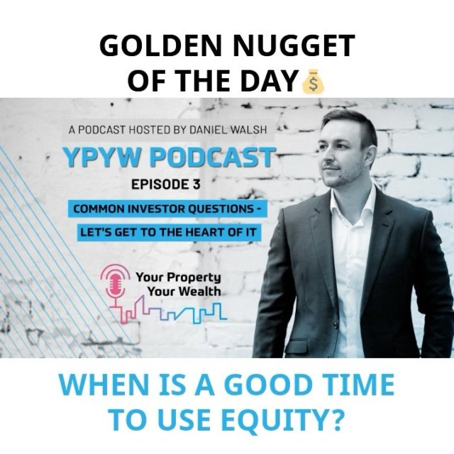 When is a good time to use equity? 🎧  #equity #assets #leverage #investor #financialfreedom #property