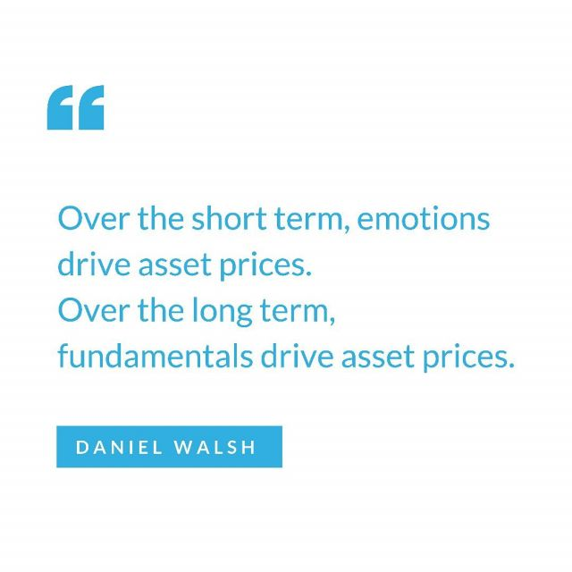 Whether it's real estate, stocks or cryptocurrency, emotions tend to drive  the price action over short periods of times (days, weeks & months).  However, an assets price nearly always reflects its underlying fundamentals long term, which is why as a long-term investor, the focus should always be on an assets long-term fundamentals rather than its short term price action.  #assets #emotionlessinvesting #mindset #longterminvesting #realestate #investor